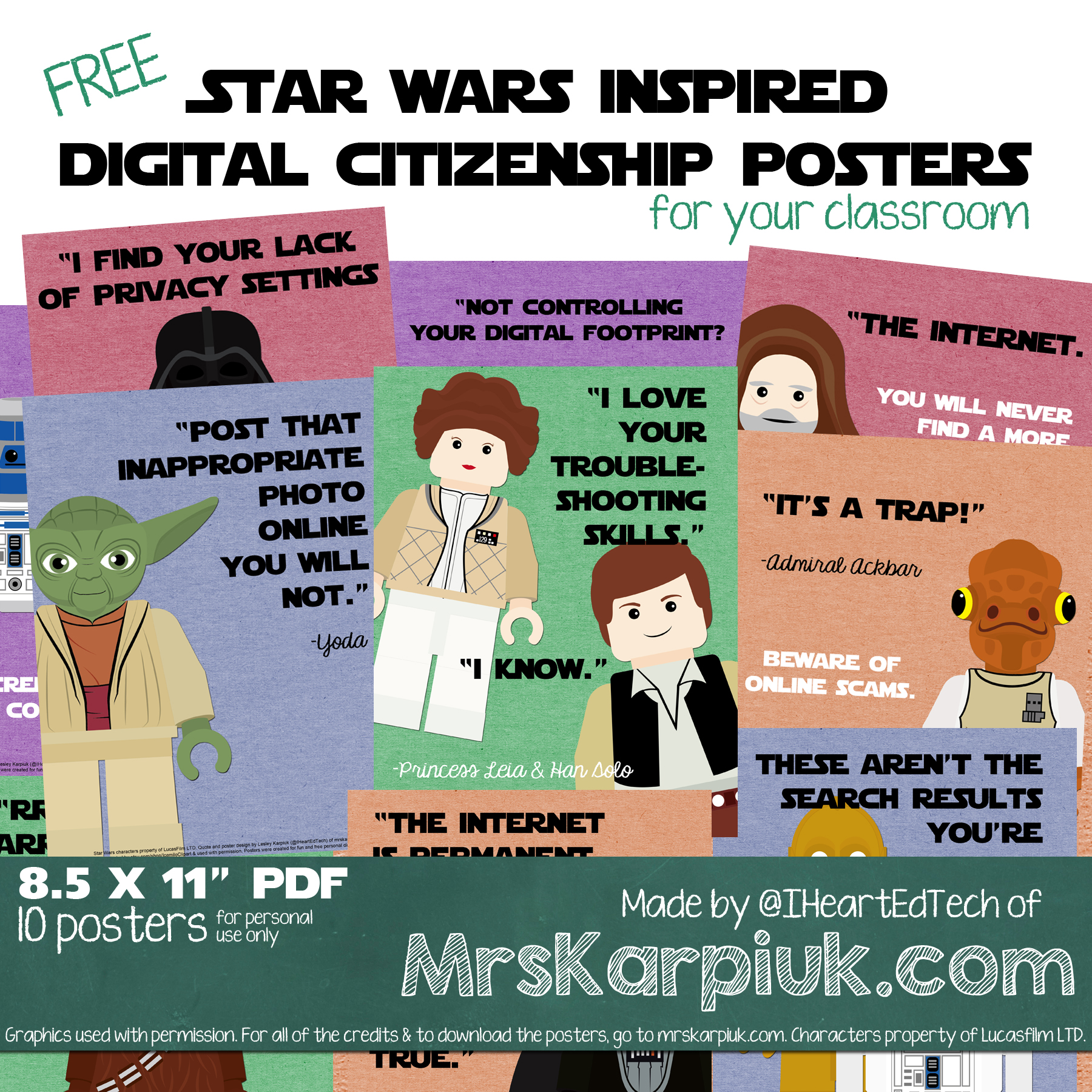 I Made Some Free Star Wars Inspired Digital Citizenship Posters Mrs Karpiuk