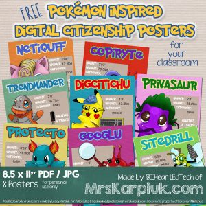 DigCit Pokemon Parody Posters Preview by IHeartEdTech
